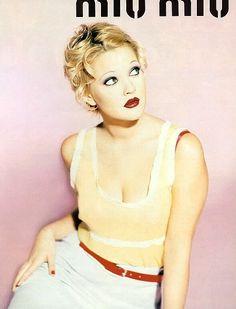 drew barrymore miu miu spring 1995 ad campaign04 TBT | Drew Barrymore Looks Very 90s in These Miu Miu Ads