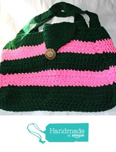 Pink and Dark Green Bag from Southern Women Crafts…