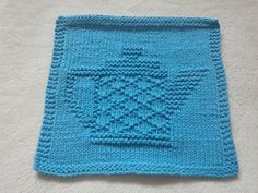 """I cast on 42 stitches and worked 66 rows for this dishcloth. The finished dimensions are 9 1/2 """" W x 9"""" H and the dishcloth weighs 41 g."""