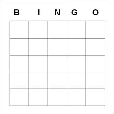 fill in the blank word document template Sample Blank Bingo - Documents in Word, PDF