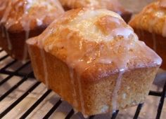 Lemon Pound Cake Muffins | Recipe Girl making these for mamas bday :) fresh berries ajd some whip cream would be perfect icing for this healthy cake