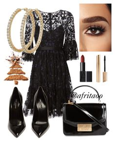 """""""Sin título #430"""" by afritaoo on Polyvore featuring moda, Needle & Thread, Yves Saint Laurent, Tory Burch y Roberto Coin"""