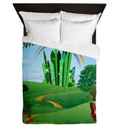 Wizard of Oz Emerald City Queen Duvet