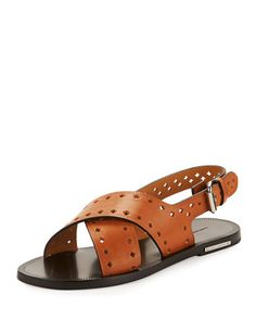 Jerys+Perforated+Flat+Leather+Sandal+by+Isabel+Marant+at+Bergdorf+Goodman.