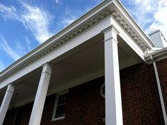A local property management company recently hired Rutgers Permanent Painting to repaint the columns at a Maplewood property with long lasting high-build paint.