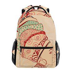 LORVIES African American Girls Casual Backpack School Bag Travel Daypack 45b9e78cf8