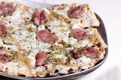 Mistral's Thin Crust Pizza with Beef Tenderloin, Mashed Potato & White Truffle Oil