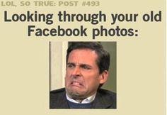 Looking through old Facebook photos