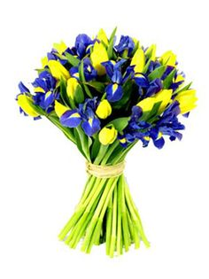48 best purpleblue and yellow event images on pinterest in 2018 seasonal flower bouquet 2 yellow tulips mightylinksfo