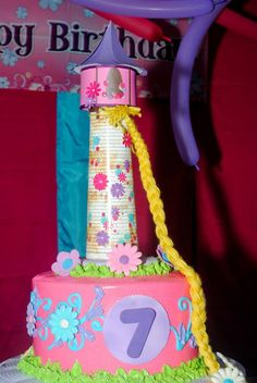 Tope bizcocho torre Rapunzel