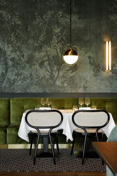 This design, a relatively new take on the bentwood chair, is Nigel Coates' Bodystuhl, spotted in a restaurant from Claude Carter / photo credit Claude Carter
