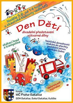 Plakát dětský den 2012 Diy And Crafts, Map, Maps, Peta