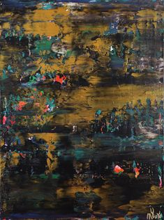 Nocturn Panorama 7 (2021) - ABSTRACT ART - NESTOR TORO - LOS ANGELES Large Painting, Acrylic Painting Canvas, Canvas Art, Original Paintings, Original Art, Abstract Art For Sale, Abstract Painters, Painting Edges, Abstract Expressionism