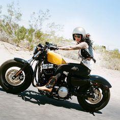 Yes please! Motorcycle Girl.