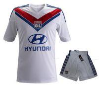 Olympique Lyonnais 2013-2014 season Home White (Shirt+Short)