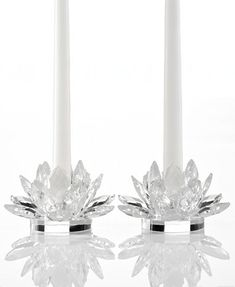 Godinger Crystal Lotus Candle Holders Set of 2 Lotus Candle Holder, Design Candle Holders, Unity Candle Holder, Wooden Candle Holders, Jar Candle, Floating Candles Wedding, Floating Candle Centerpieces, Hanging Candles, Flower Centerpieces