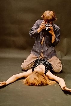 Model Veruschka in Blow-Up. Director: Michelangelo Antonioni. One of the best movies I watched in film class.