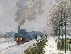 Claude Monet, Train in the snow (Le train dans la neige), N/D Oil on canvas