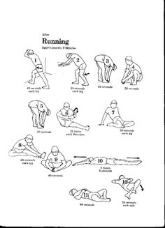 post running stretches