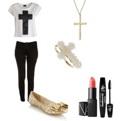 """Cross"" by amandaagcs on Polyvore"