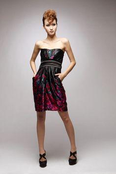 Fashion style Slim printing Bra dress