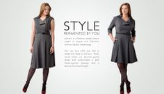 Tweak the style to suit you! Unbelievable. But true!  -  dresses, tops, skirts, jackets.  beautiful clothes that can be tailored.  order using body measurements for great fit.  nice conservative and classic dresses, retro/vintage look.  some dressy clothes, fun prints, and casual.  good, like, keep.        lj