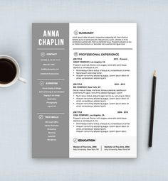 resume template cv template cover letter letterhead stationery ms word digital - Resume Templates Microsoft