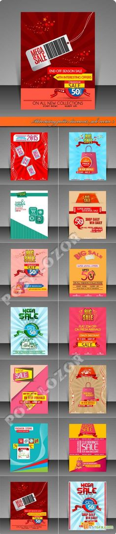 Geométrica modelo de cartaz editável colorido Design Pinterest - advertising poster templates