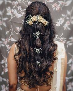 Wedding makeup indian wedding hairstyles half up h. - Wedding makeup indian wedding hairstyles half up half down, indian we - Bridal Hairstyle Indian Wedding, Indian Wedding Makeup, Bridal Hair Buns, Best Bridal Makeup, Bridal Hairdo, Hairdo Wedding, Wedding Hairstyles For Long Hair, Indian Makeup, Arabic Makeup