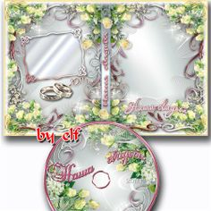 Wedding cover for DVD PNG Frames