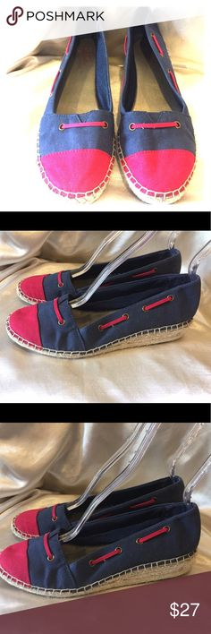 Lifestride Red and Blue espadrilles size 8 Lifestride Red and Blue Sporty Wedge espadrilles size 8 GUC Please see pictures for details of wear Life Stride Shoes Espadrilles