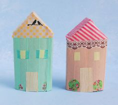 zakka life: Make a Washi Tape Village