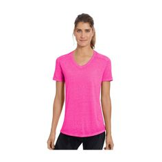 Women's Champion Sugar Wash Boyfriend Tee, Size: Medium, Dark Pink