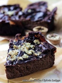 Brownie jaglane (z kaszy jaglanej) - dietetyczne - najlepsze - BE FIT Picture - JAGLANE BEANS (made from millet) - dietetic - the best - BE FIT! Healthy Baking, Healthy Desserts, Desserts Sains, Christmas Party Food, Vegan Cake, Love Food, Sweet Recipes, Food And Drink, Yummy Food