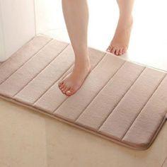 Cheap mat control, Buy Quality mat tee directly from China mat plastic Suppliers: Useful 40*60cm Memory Foam Bath Mats Bathroom Horizontal Stripes Rug Absorbent Non-slip Bath Mats  Produ