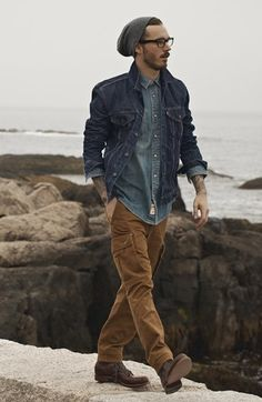 Levi's® Jacket, Western Shirt & Dockers® Cargo Pants  available at #Nordstrom