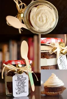 Gingerbread Cupcakes with Cream Cheese Frosting | 24 Delicious Food Gifts That Will Make Everyone Love You