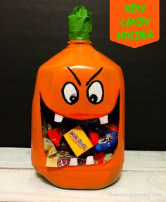 #TrickOrSweet #CollectiveBias #AD #Halloween #DIY #Hersheys #chocolates #dulces #calabaza #candyholder #hazlotumisma