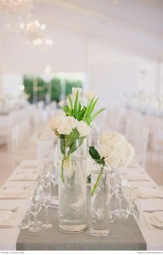 White tulips by Louise Eichner Functions & Flowers | Real weddings | Photograph by  Piteira Photography