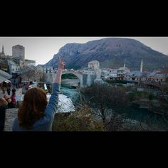 """peace "" from stana katic  looks like mostar to me."
