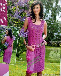 lovely purple dress pattern
