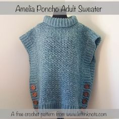 A FREE crochet pattern - this poncho is a beautiful and flexible pattern. It is written to fit up to size XL. It can be easily modified in size to be larger or smaller. Using bulky Lion Brand Wool-Ease Tonal yarn, it works up quickly! #crochet #freepattern #poncho #fallfashion #yarn #lionbrandyarn @lionbrandyarn