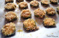 Baked Zucchini Parmesan Crisps   Delish D'Lites
