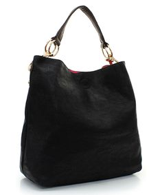 Poppy Tote in Black and Pink Liner