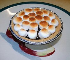 """Mini S'more Pies (fast & easy)! 4.75 stars, 8 reviews. """"Fast easy dessert when you're not camping."""" @allthecooks #recipe #dessert #easy #pie #cold #christmas"""