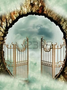 Picture of Heaven door in the sky with clouds stock photo, images and stock photography. Halloween Photography Backdrop, Halloween Fotografie, Yasmine Galenorn, Heaven's Gate, Prophetic Art, Stairway To Heaven, Sky And Clouds, Paradis, Celestial