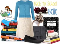 """Back to School: Belle"" by jami1990 ❤ liked on Polyvore"