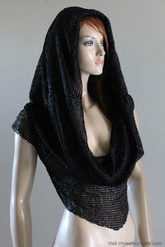 Medieval Hood Scarf Top on Etsy.