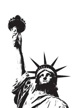 Statue of Liberty (outline) by Erin Clark - art print from King & McGaw