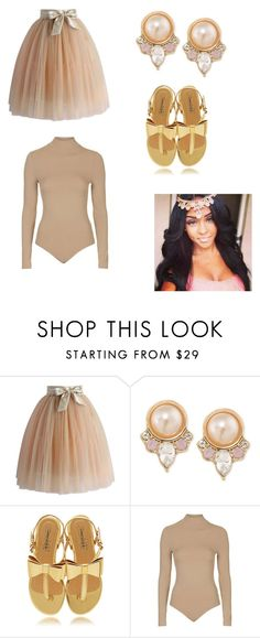 """Daughter version"" by maddixneal on Polyvore featuring Chicwish, Carolee, Timeless and Topshop"